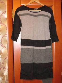 Платья, туника, пижамка - Черно-серое платье.jpg